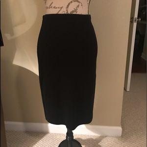 Black Pencil Skirt Sweater Fabric